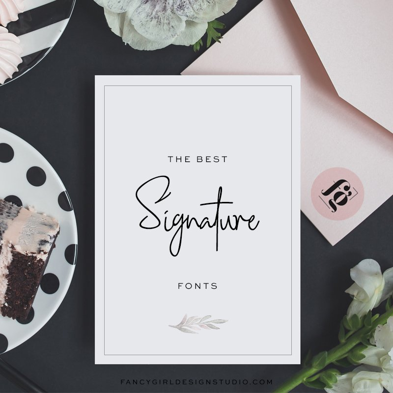 the best signature fonts