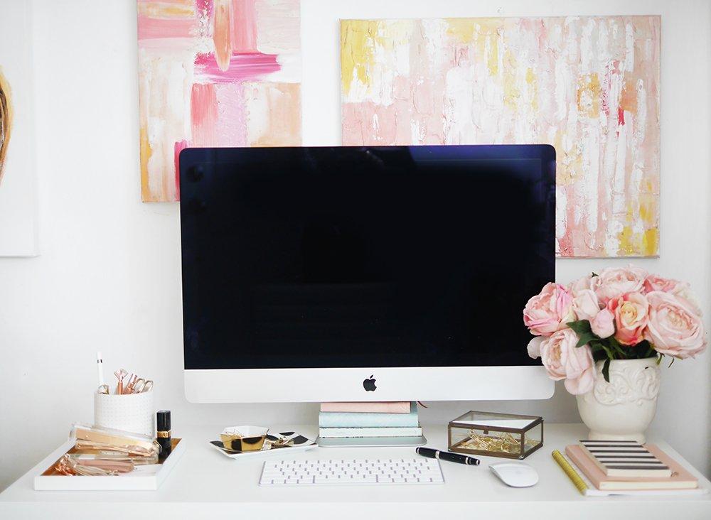 styled desktop, office space, workspace
