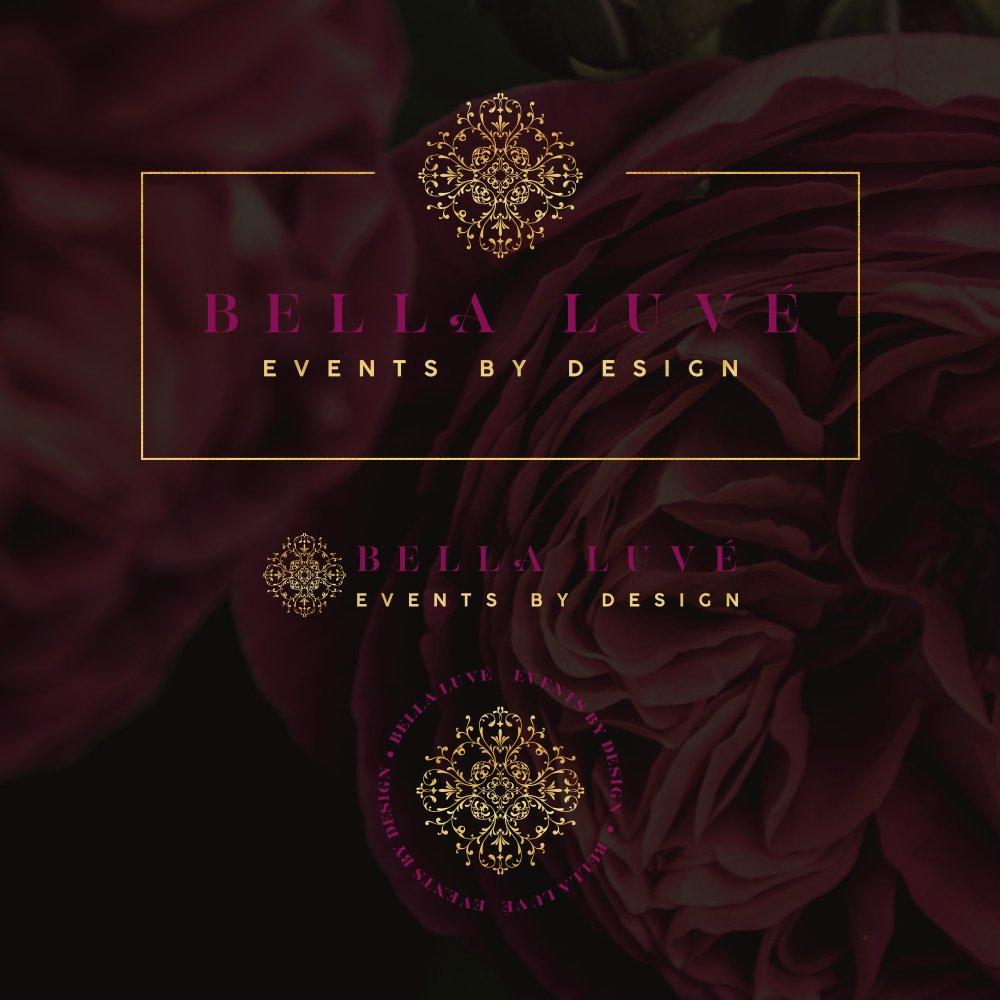 Bella Luve complete logo set by fancy girl design studio