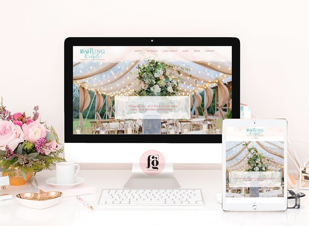 dairing events website redesign
