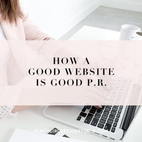 How A Good Website is Good PR