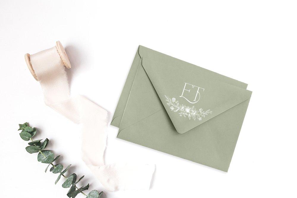High-end, elegant logo design for Emily Taylor Weddings by Fancy Girl Design Studio