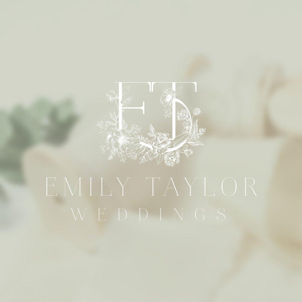 Logo design for Emily Taylor Weddings by Fancy Girl Design Studio