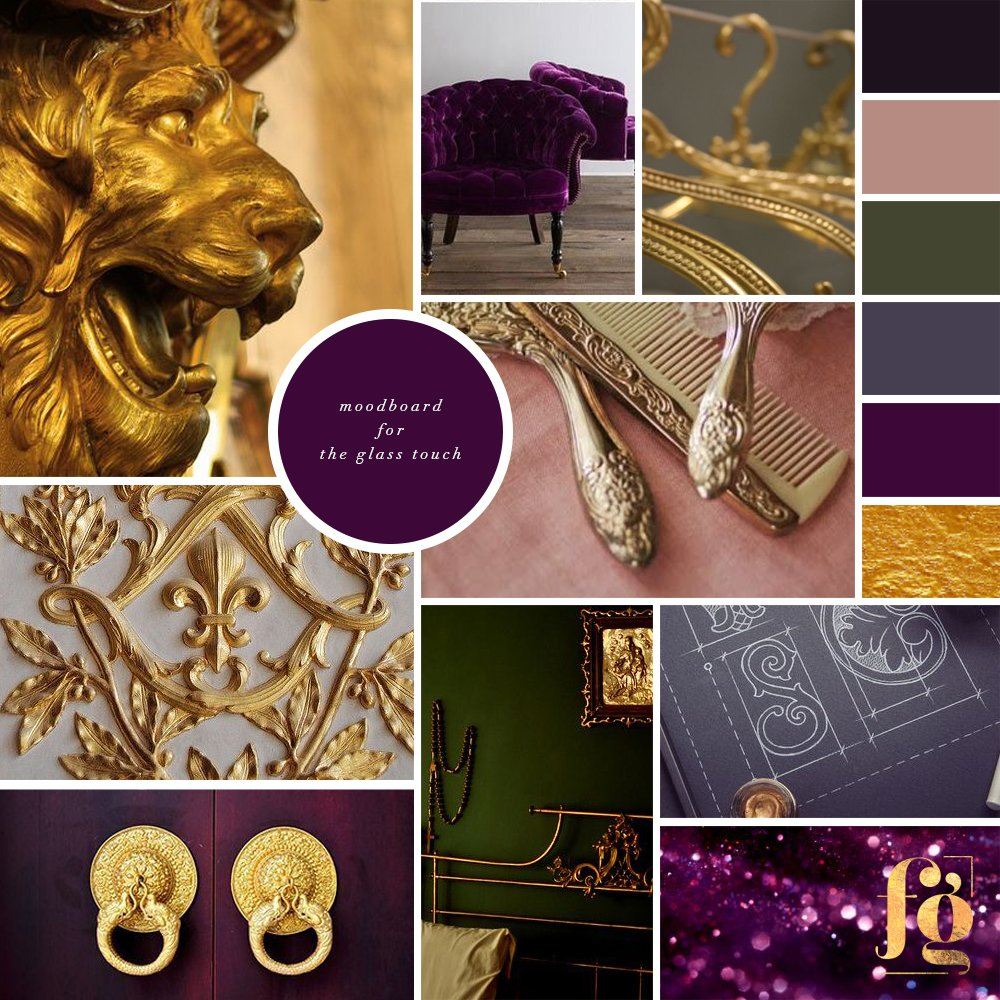 moodboard and color palette for The Glass Touch Interiors