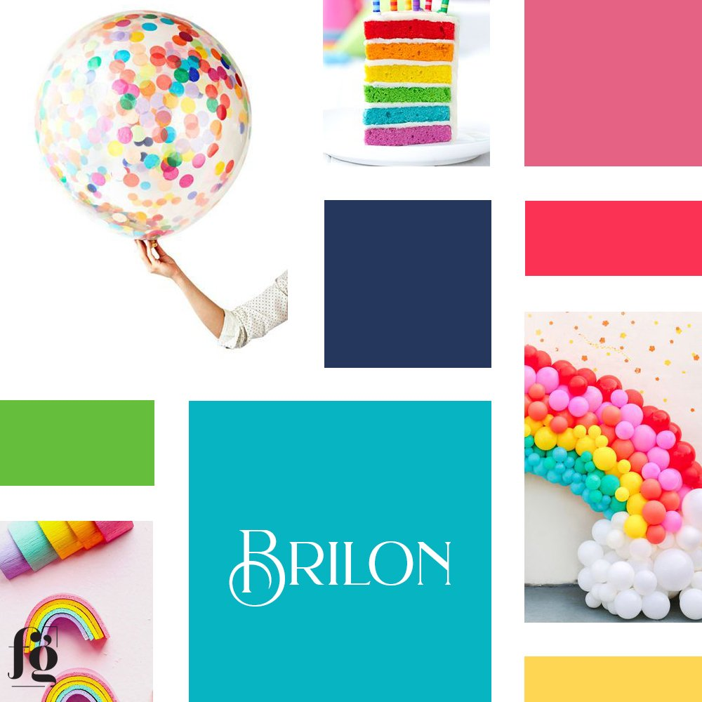 Moodboard for Balloon & Event Construction Company by Fancy Girl Design Studio