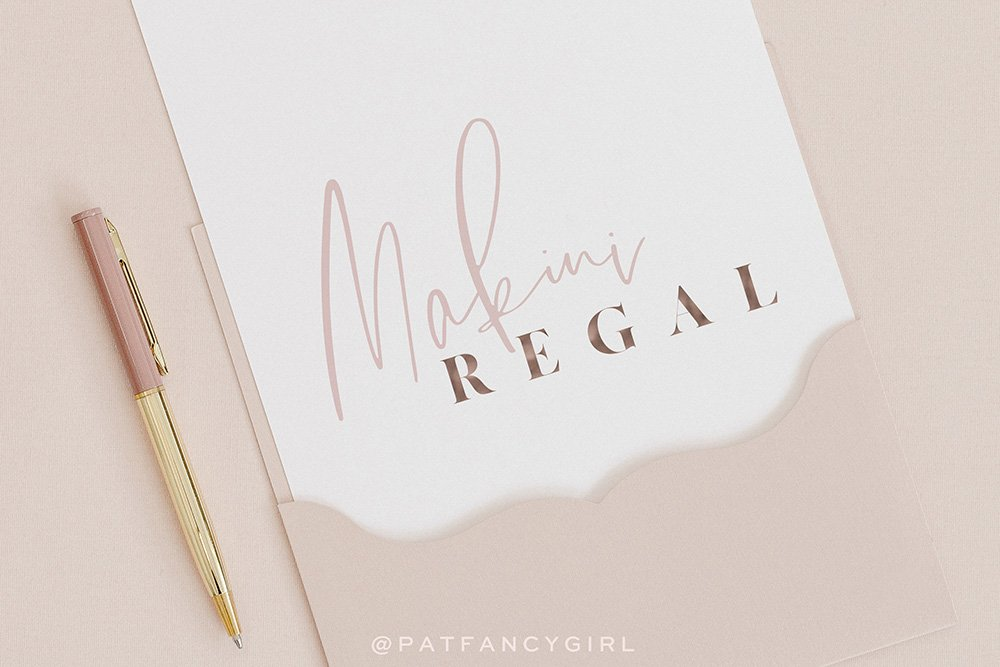 stylish and elegant logo design for Makini Regal by Fancy Girl Design Studio