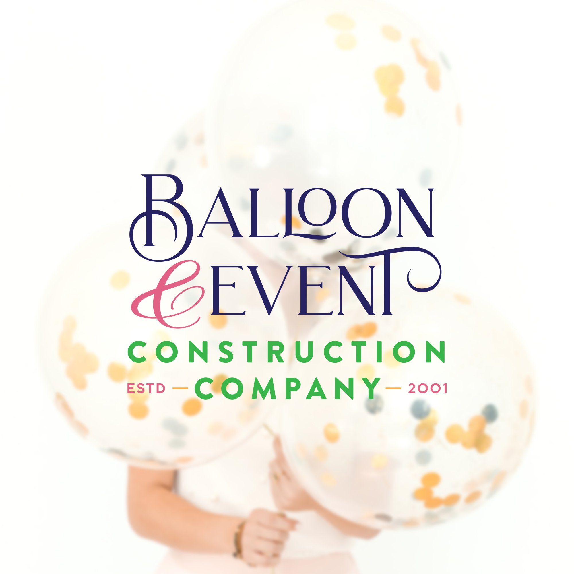 logo design for Balloon & Event Construction Company by Fancy Girl Design Studio