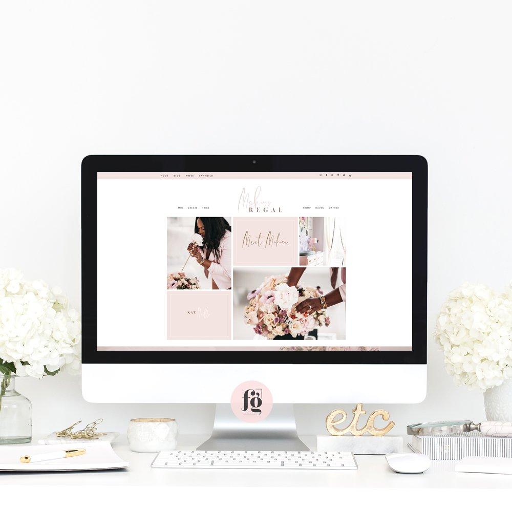 website design for Makini Regal