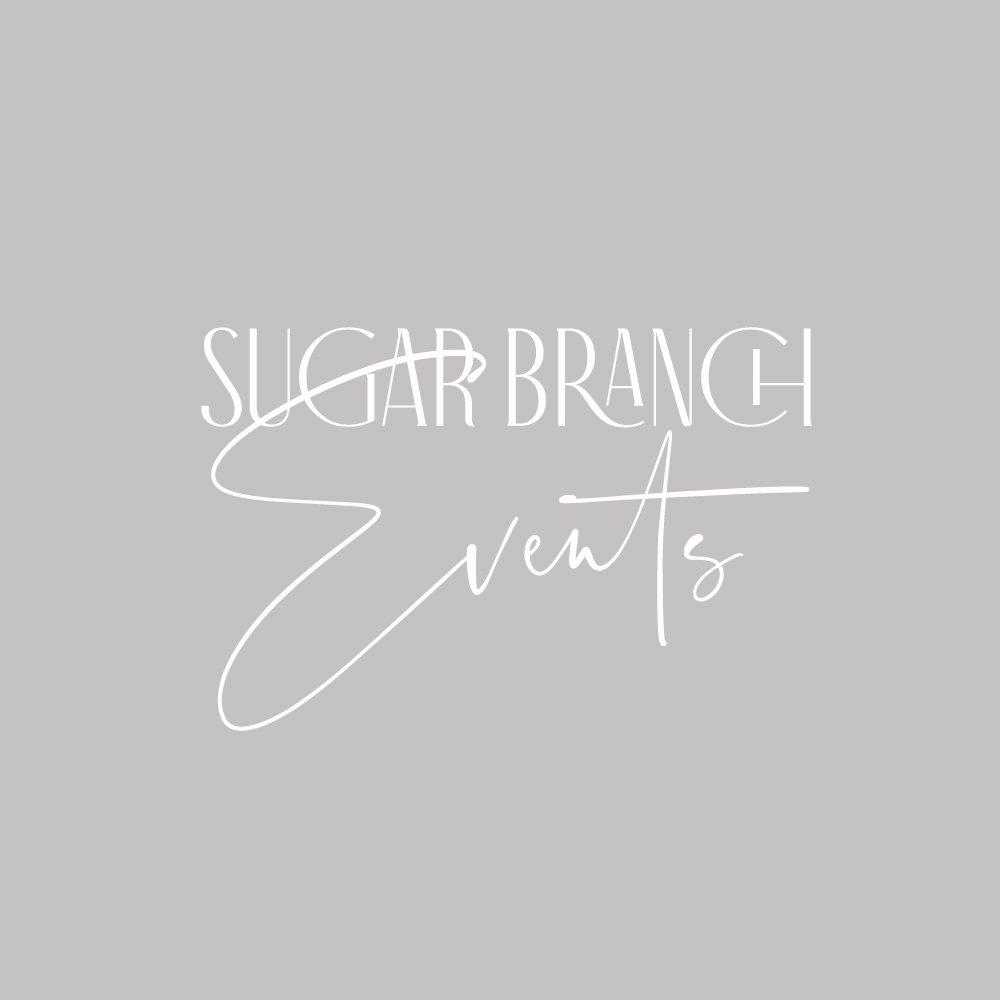 logo design for sugar branch events by fancy girl design studio