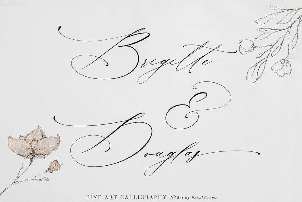 La Boheme font sample by Peach Creme Letters