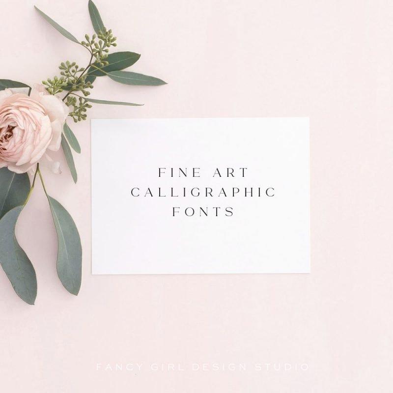 Fine Art Calligraphic Fonts