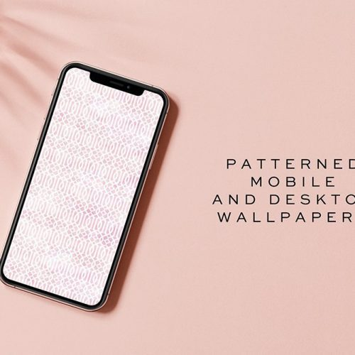 Pink patterned mobile and desktop wallpaper