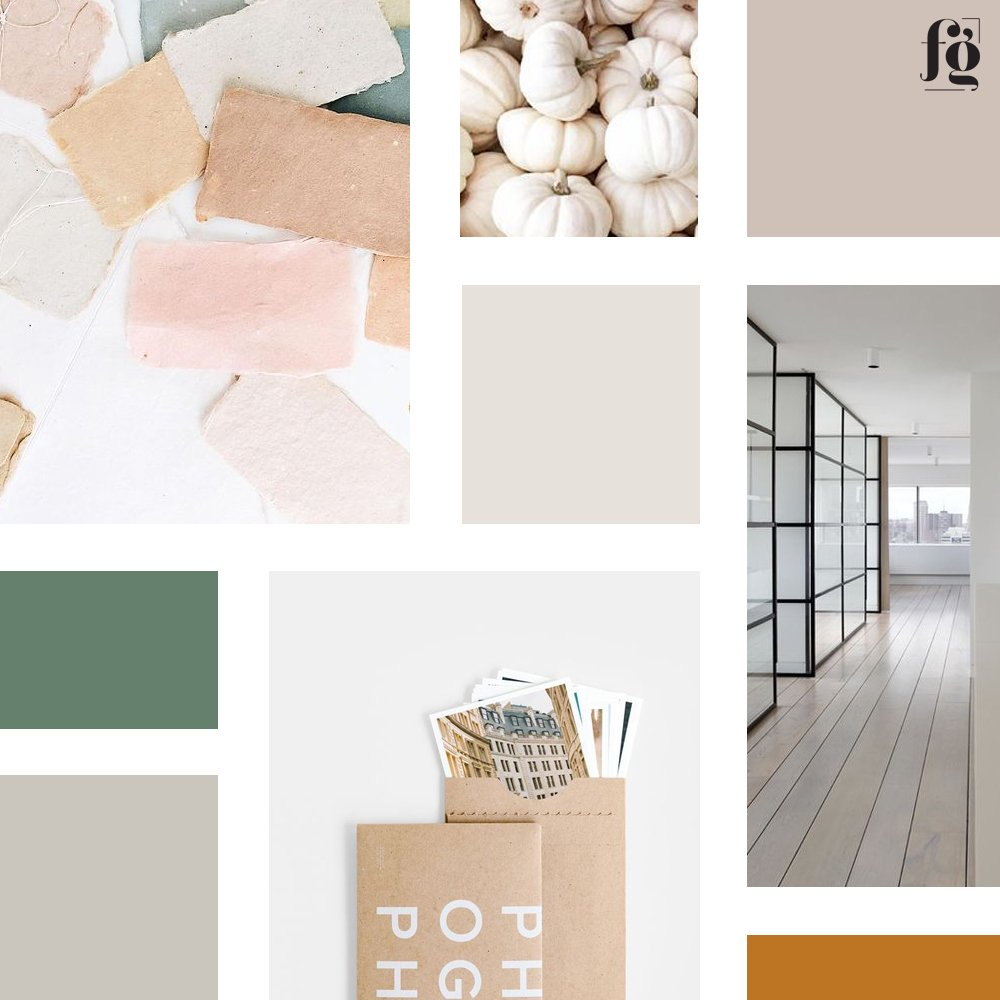 moodboard and color palette for Game Changer Philippines by Fancy Girl Design Studio