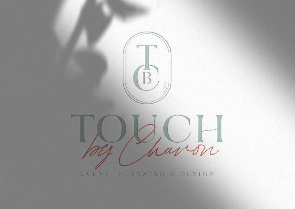 full-color logo design for Touch by Chavon | designed by Fancy Girl Design Studio