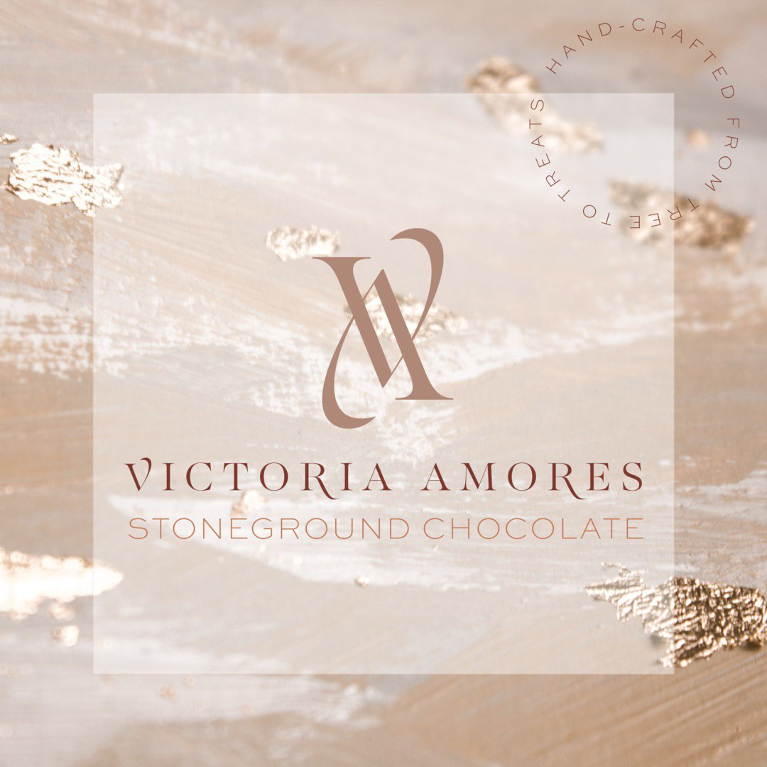 Victoria Amores Stoneground Chocolate logo design by Fancy Girl Design Studio