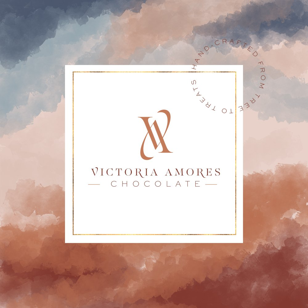mockup for the big bonbon box for Victoria Amores Chocolate