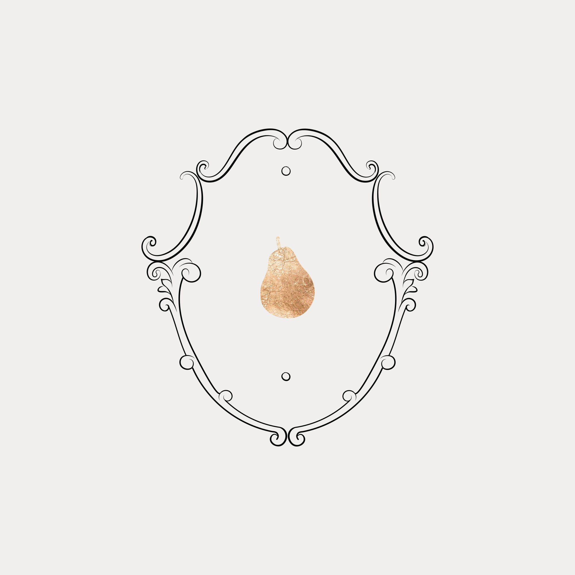 luxurious, classic, sophisticated emblem design for Petit Anjou by Fancy Girl Design Studio