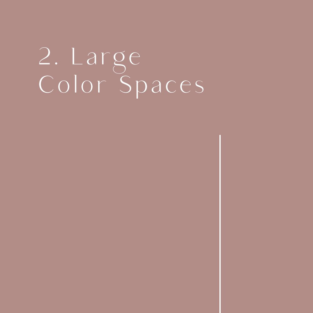 2020 design trend: large color spaces
