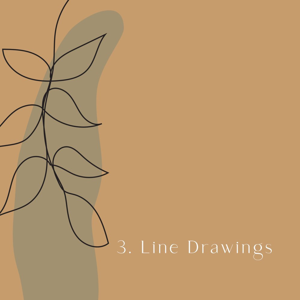 2020 design trend: line drawings
