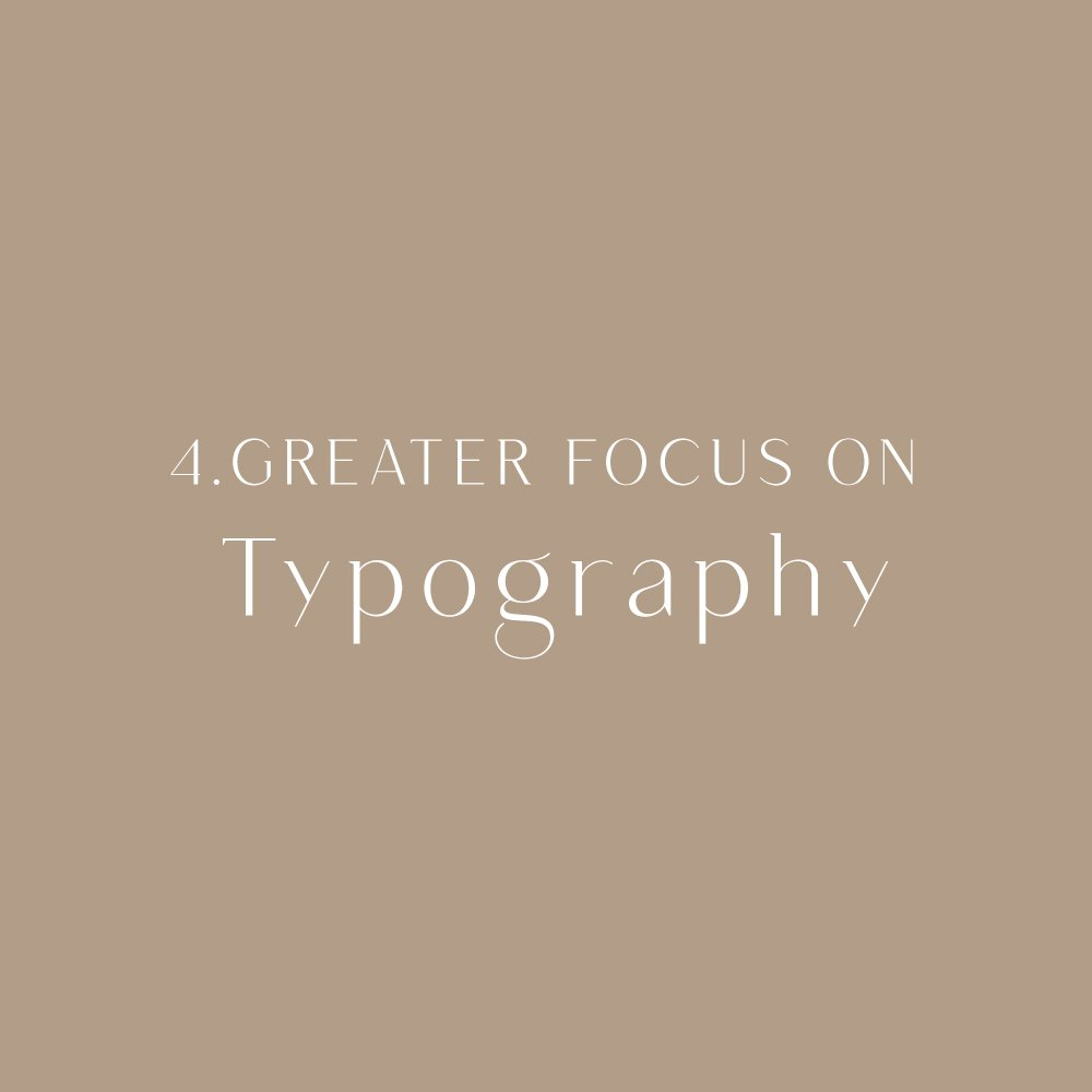 2020 design trend: typography-focused
