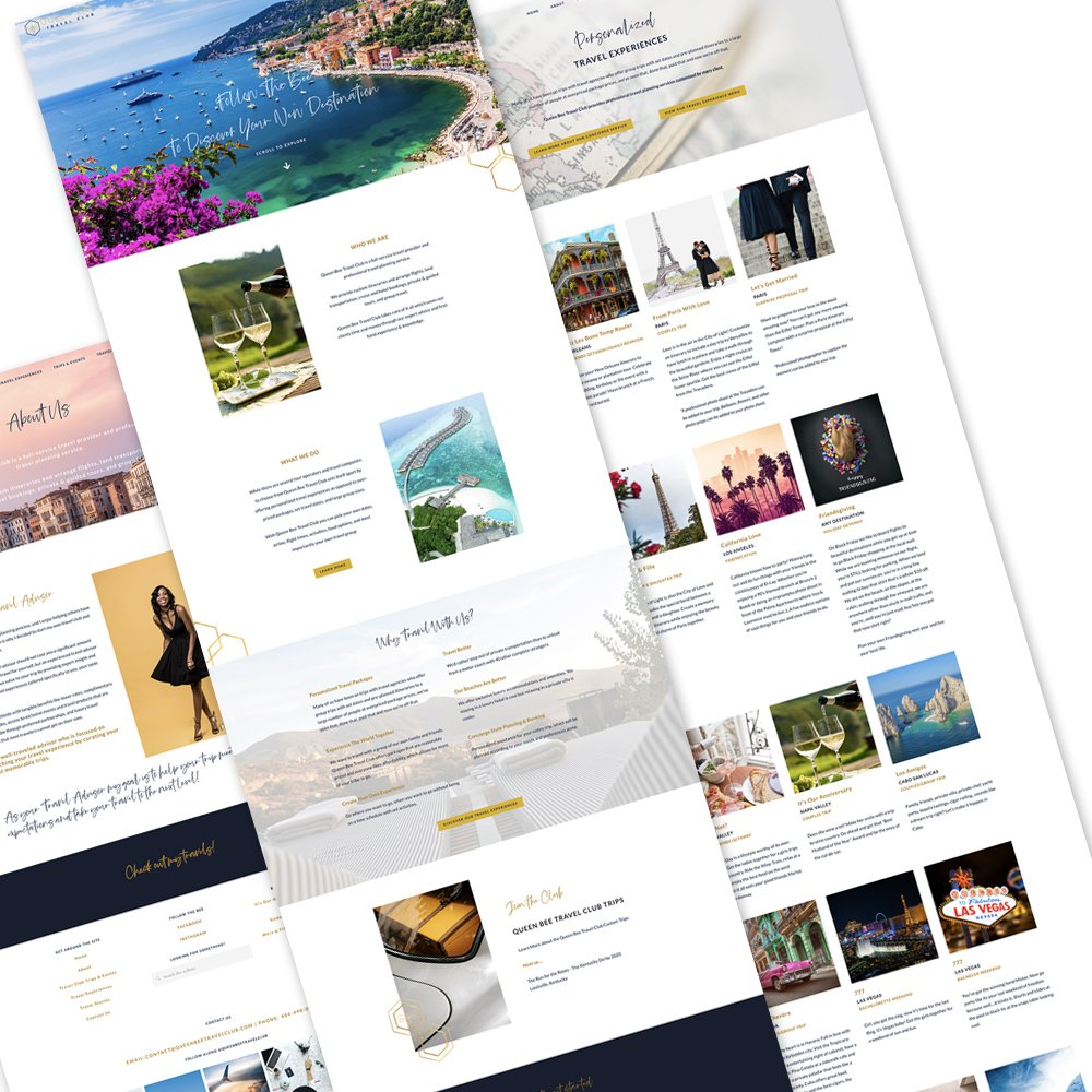 Queen Bee Travel Club pages