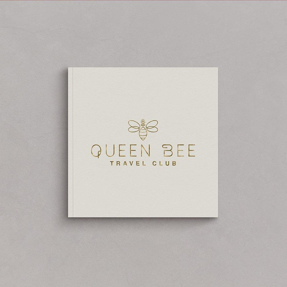 Queen Bee Travel Club logo design by Fancy Girl Design Studio