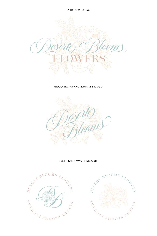 Desert Blooms Flowers Logo Set designed by Fancy Girl Design Studio
