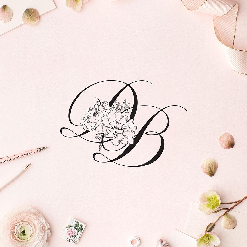 monogram for Desert Blooms Flowers by Fancy Girl Design Studio