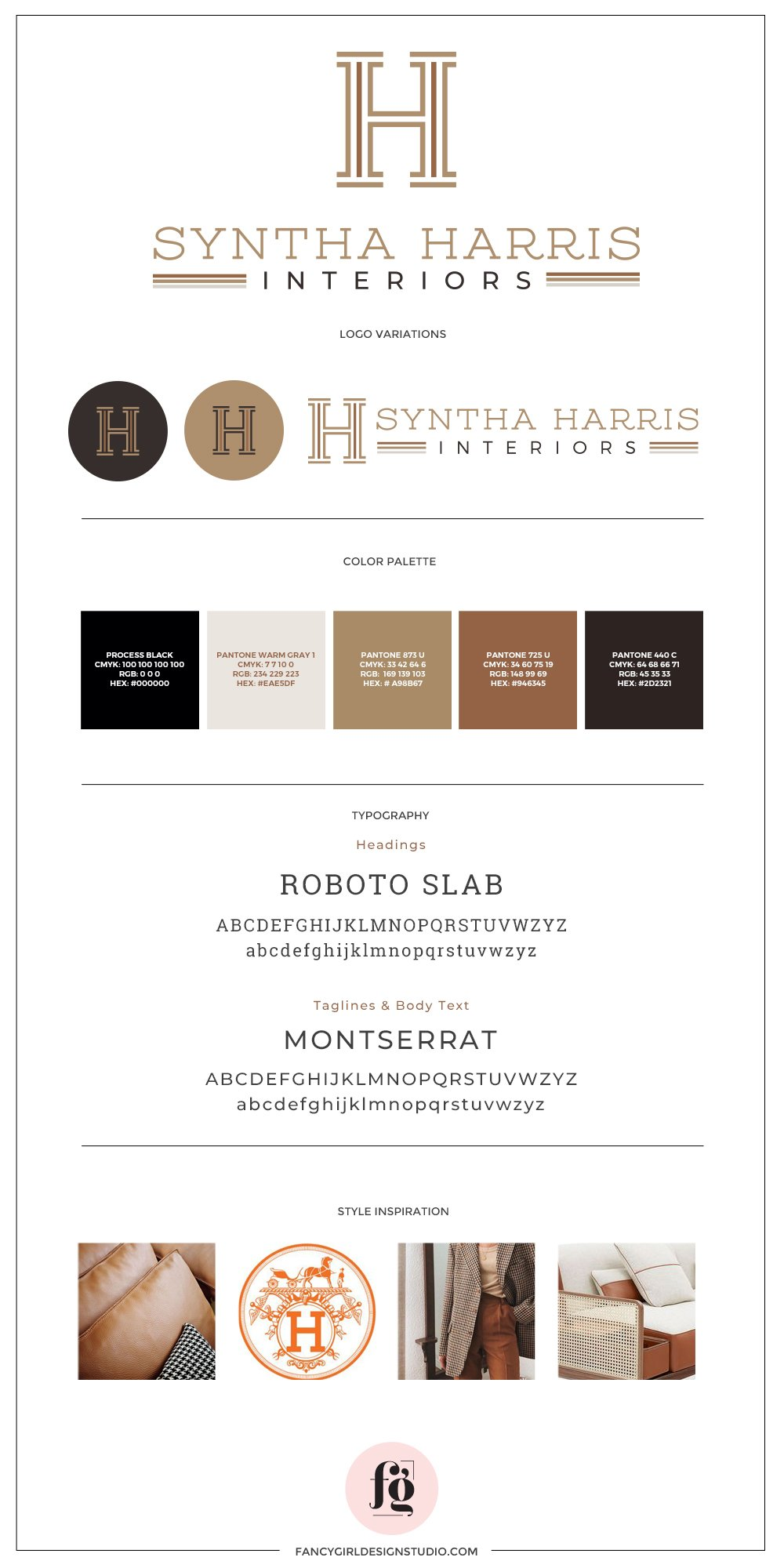 Syntha Harris Interiors Brand Guide by Fancy Girl Design Studio