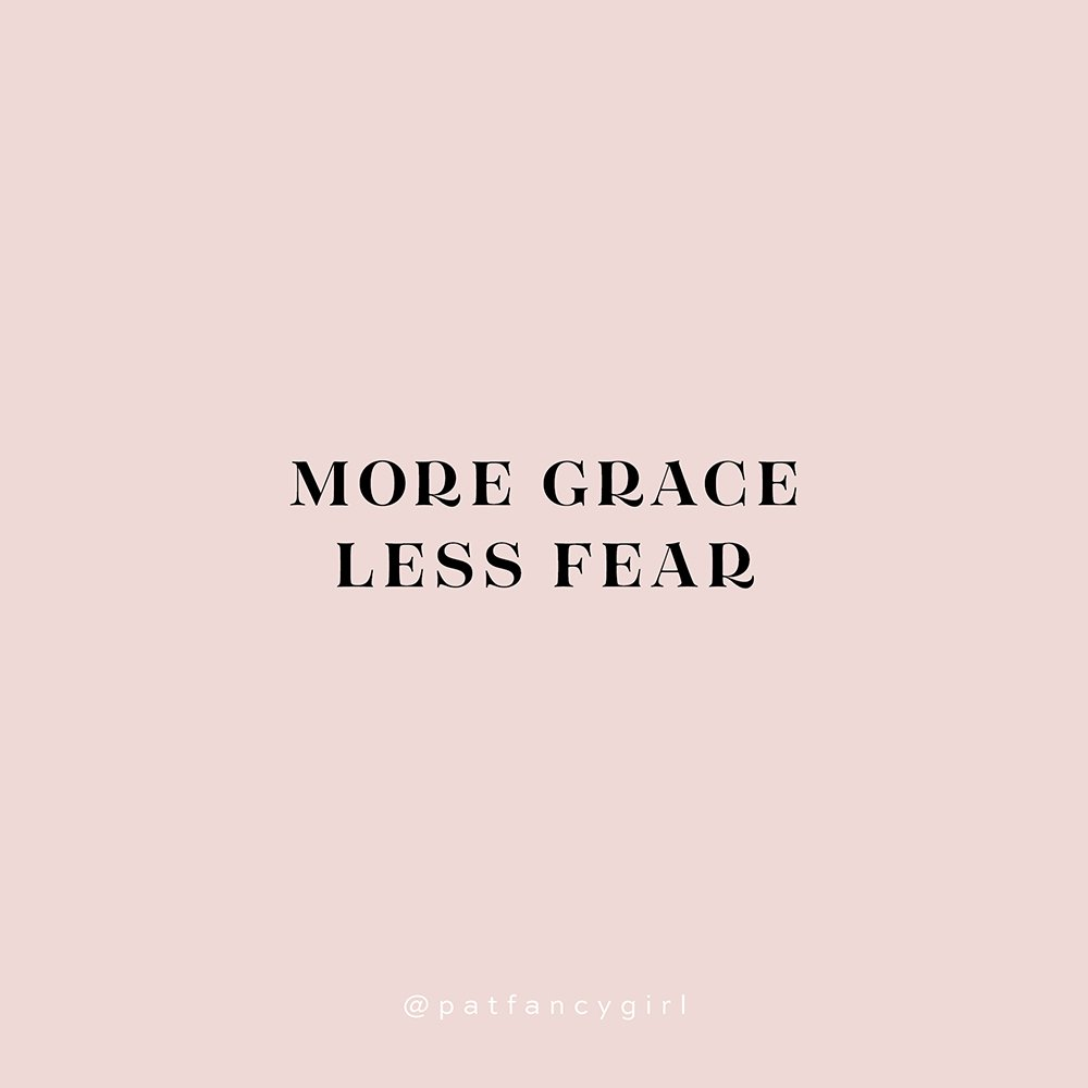 More grace, less fear using Tenez Bold