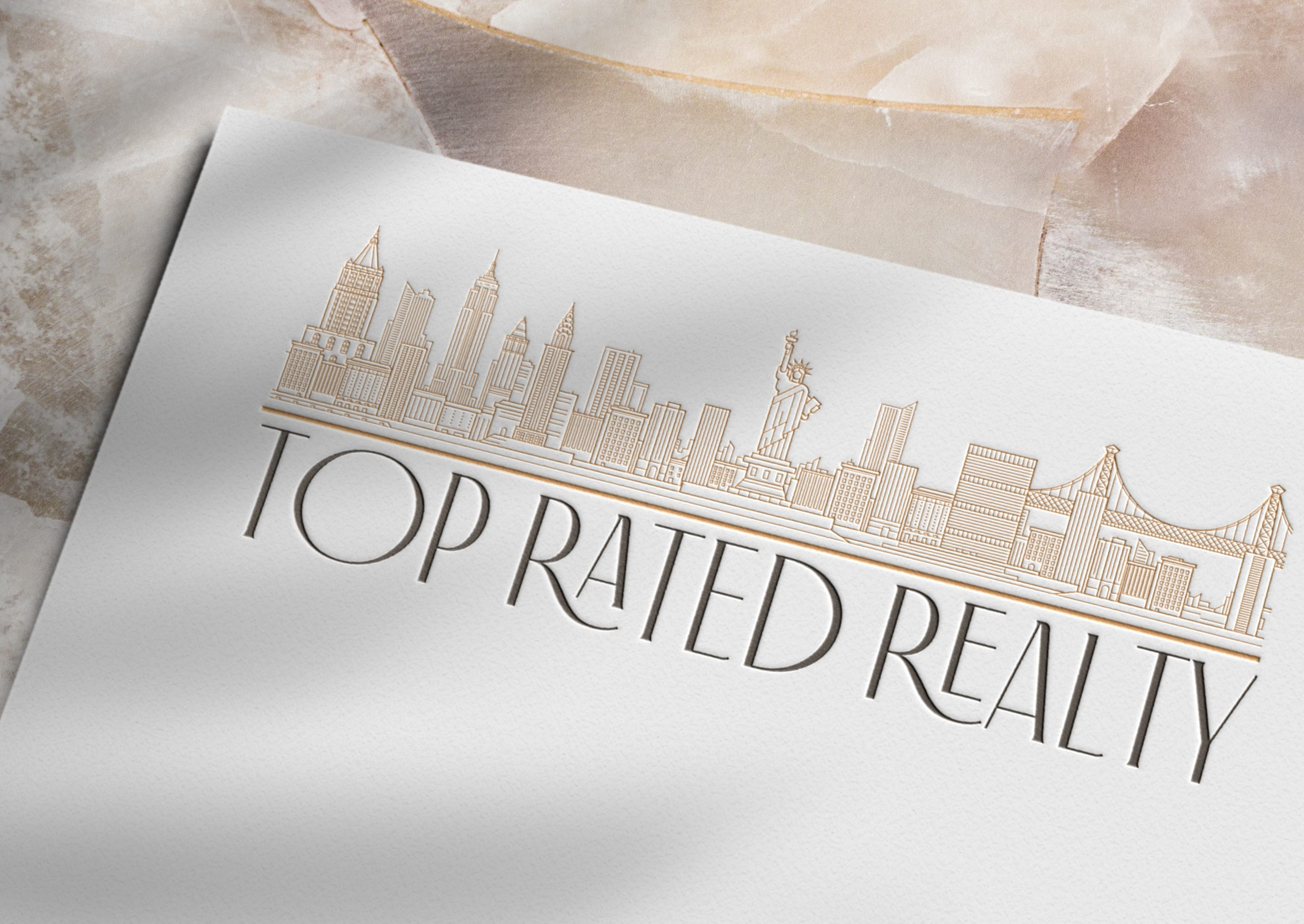 Timeless logo design for Top Rated Realty by Fancy Girl Design Studio