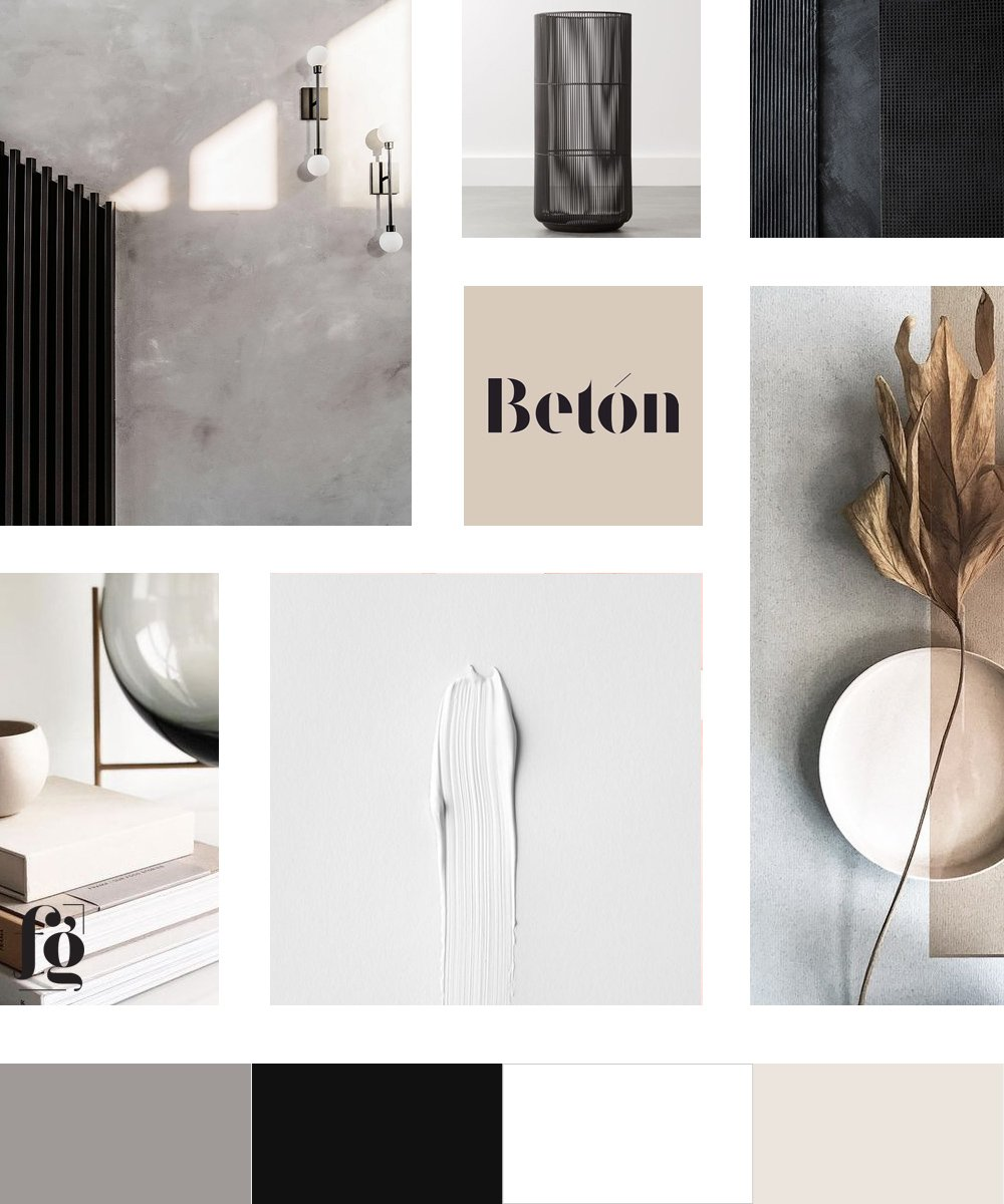 Moodboard and color palette for Hella Design Studio by Fancy Girl Design Studio. Timeless, modern neutrals.