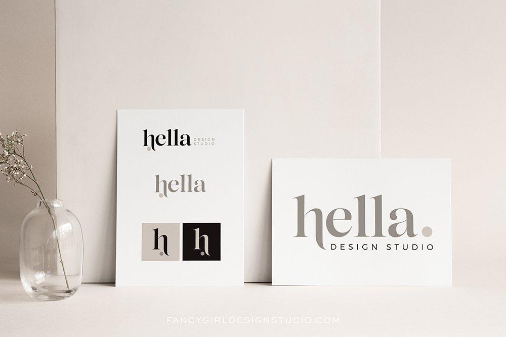Logo design mockup for Hella Design Studio by Fancy Girl Design Studio