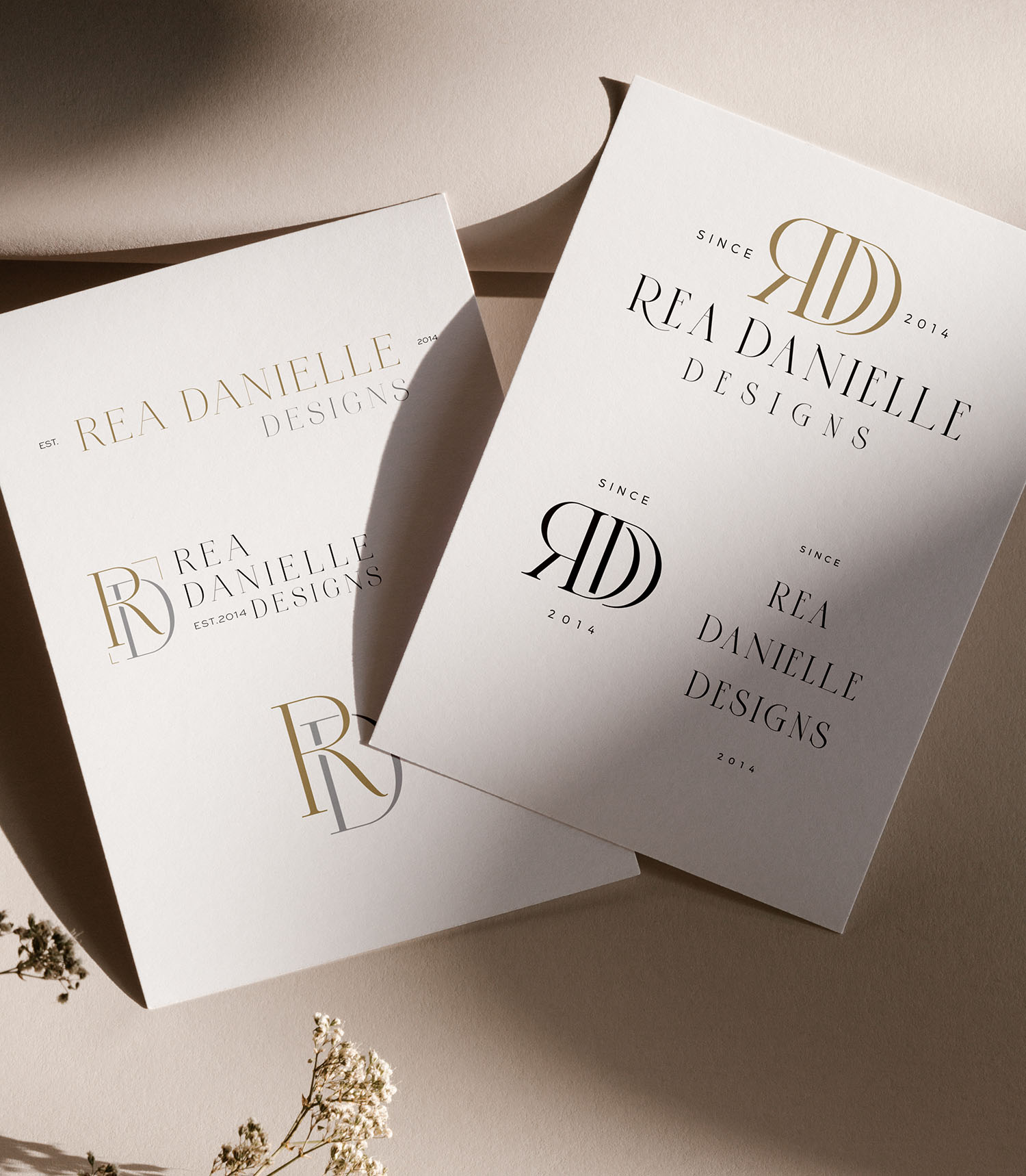 logo design concepts for Rea Danielle Designs - luxury branding for a wedding planner, by Fancy Girl Design Studio