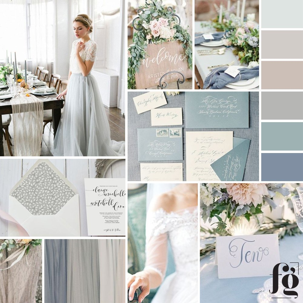 romantic, timeless moodboard and color palette for Jenn Hopkins Photography