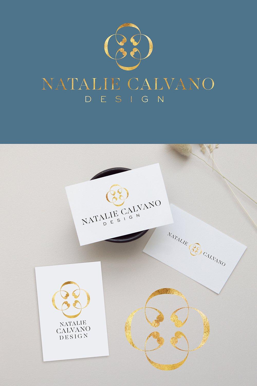logo design option 1 for Natalie Calvano design
