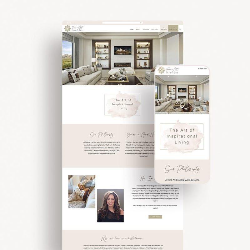 Web Design for Fine Art Interiors