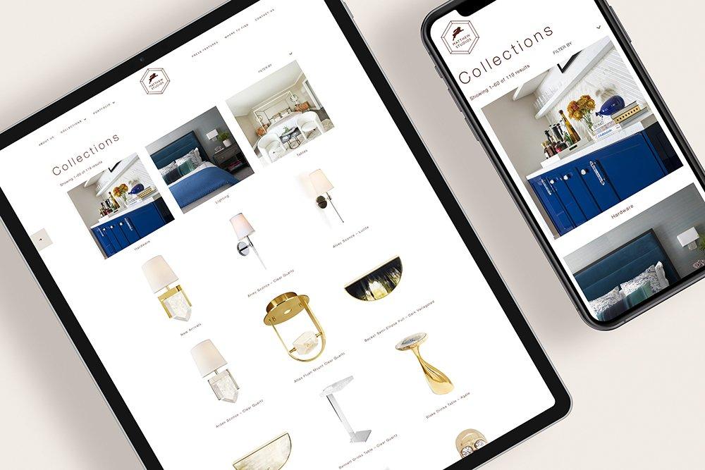 e-commerce website design for Matthew Studios - shop page