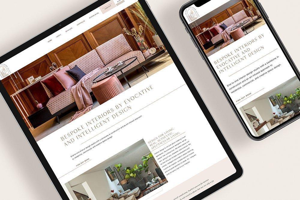 stylish, modern, website design for Ophelia Blake Interior Design