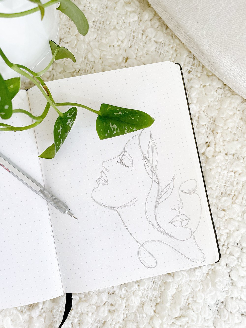 custom illustration by patricia alix of fancy girl design studio