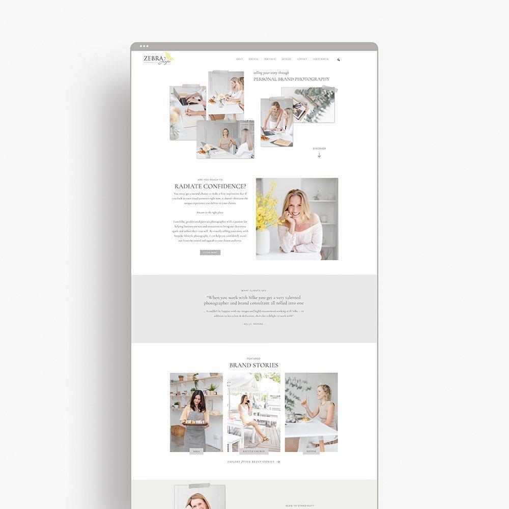 website design for zebrajojo.com, brand photographer based in Singapore