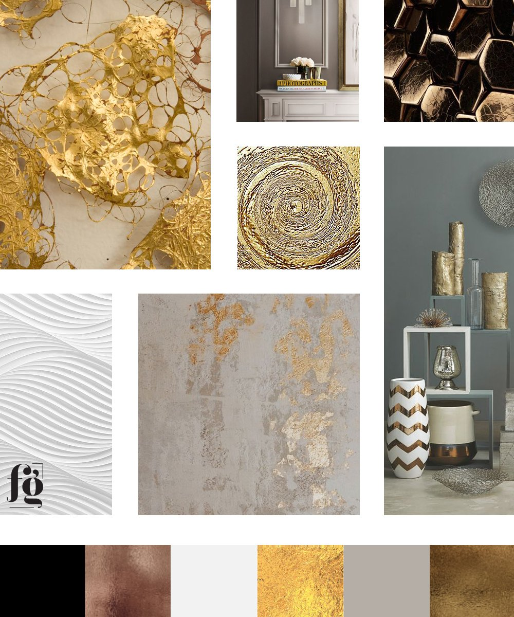 casual, friendly elegance in this moodboard and color palette for UpperBay Frame And Gallery