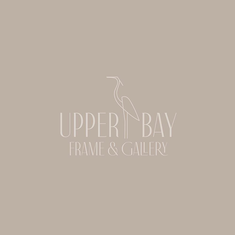artistic, casual, friendly elegance in this logo design for UpperBay Frame And Gallery