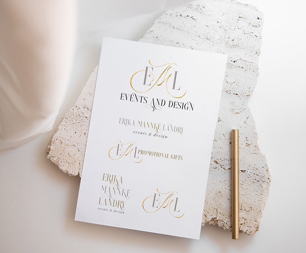 EML Events and Design full brand identity set - elegant, refined, sophisticated brand design for a top wedding planner in Texas | Designed by Fancy Girl Design Studio