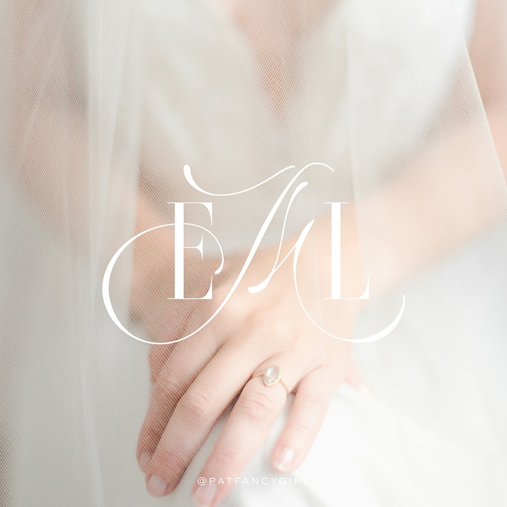 EML Events and Design emblem - elegant, refined, sophisticated brand design for a top wedding planner in Texas | Designed by Fancy Girl Design Studio