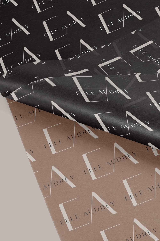modern, stylish pattern design for Elle Audrey, luxury wedding planner by Fancy Girl Design Studio