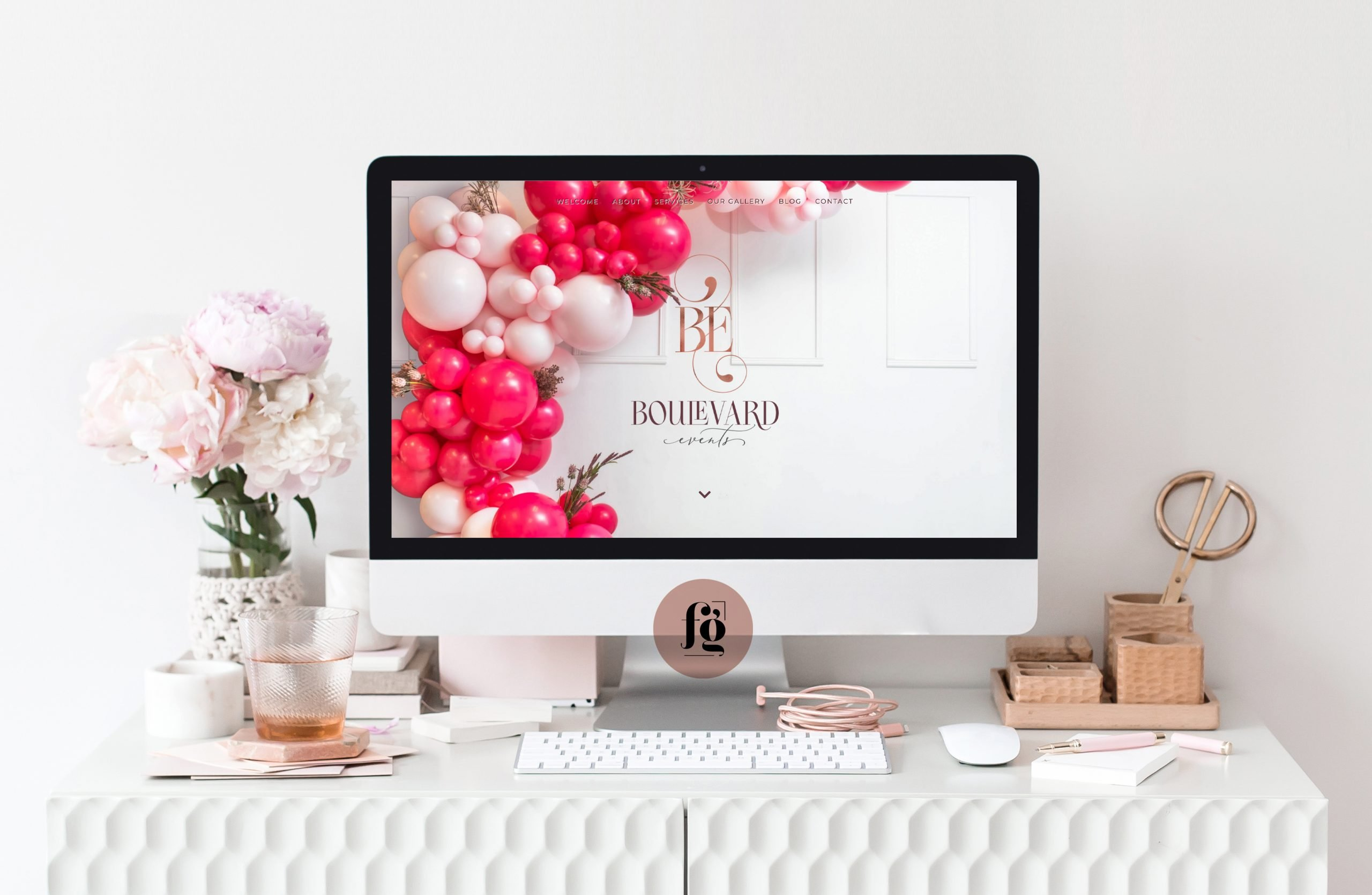 website semi-custom design for Boulevard Events