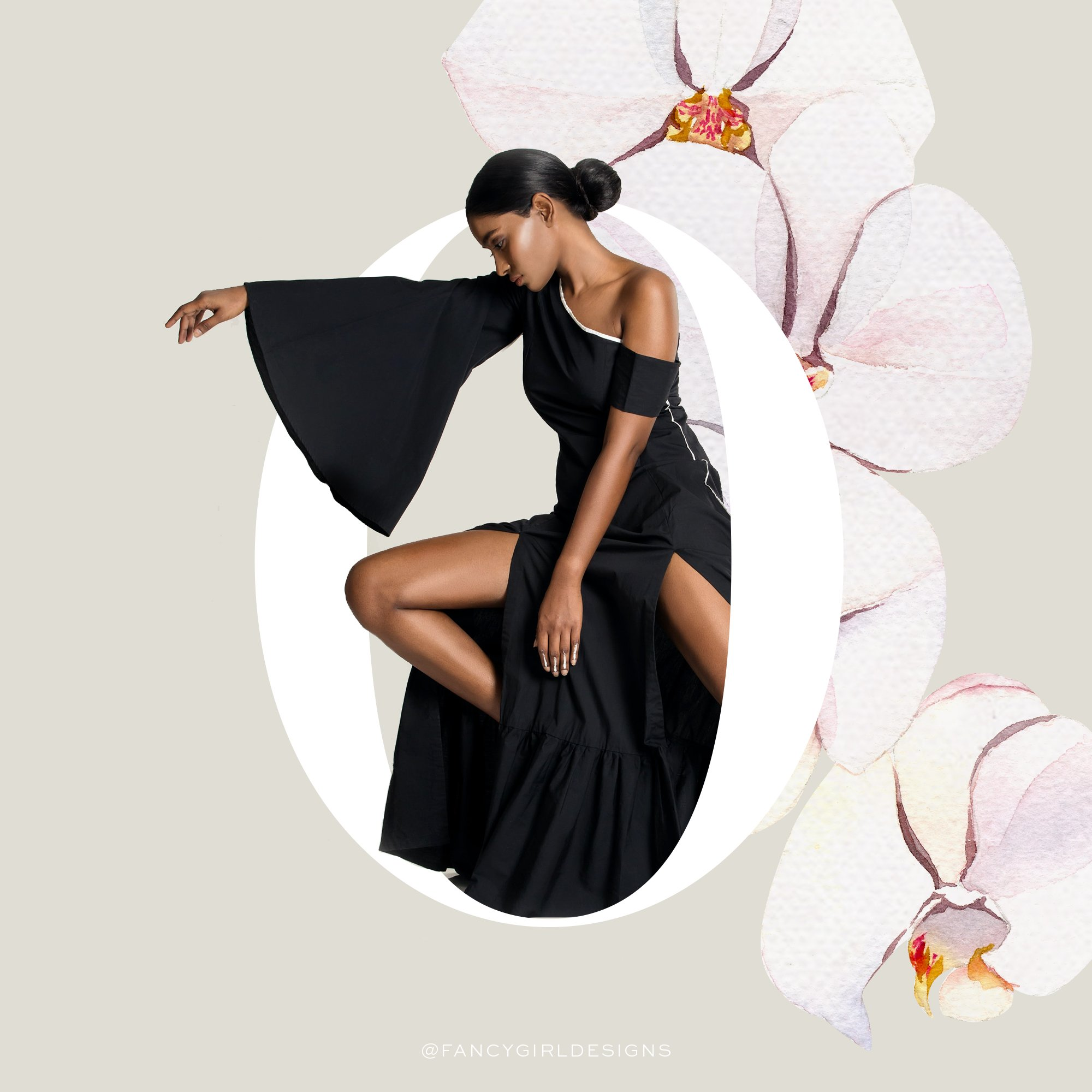 fashion typography, letter O, by Fancy Girl Design Studio