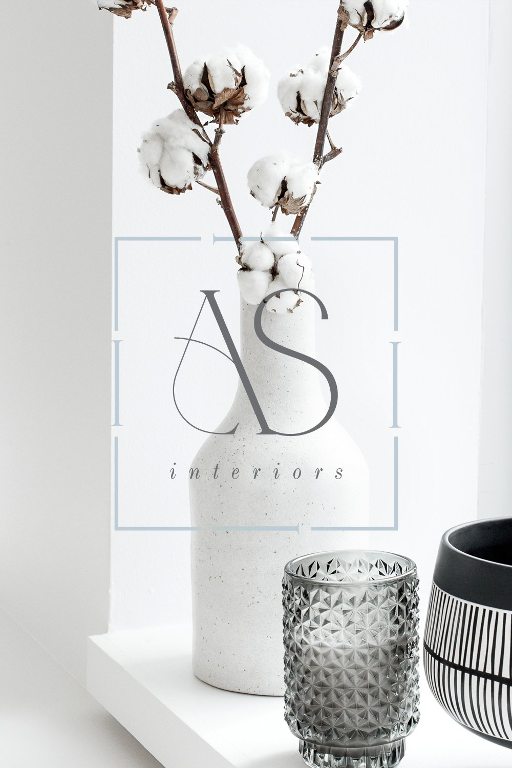 One of the brand marks for Ana Santos Interiors by Fancy Girl Designs | accessible luxury for an interior design brand with modern creative touches