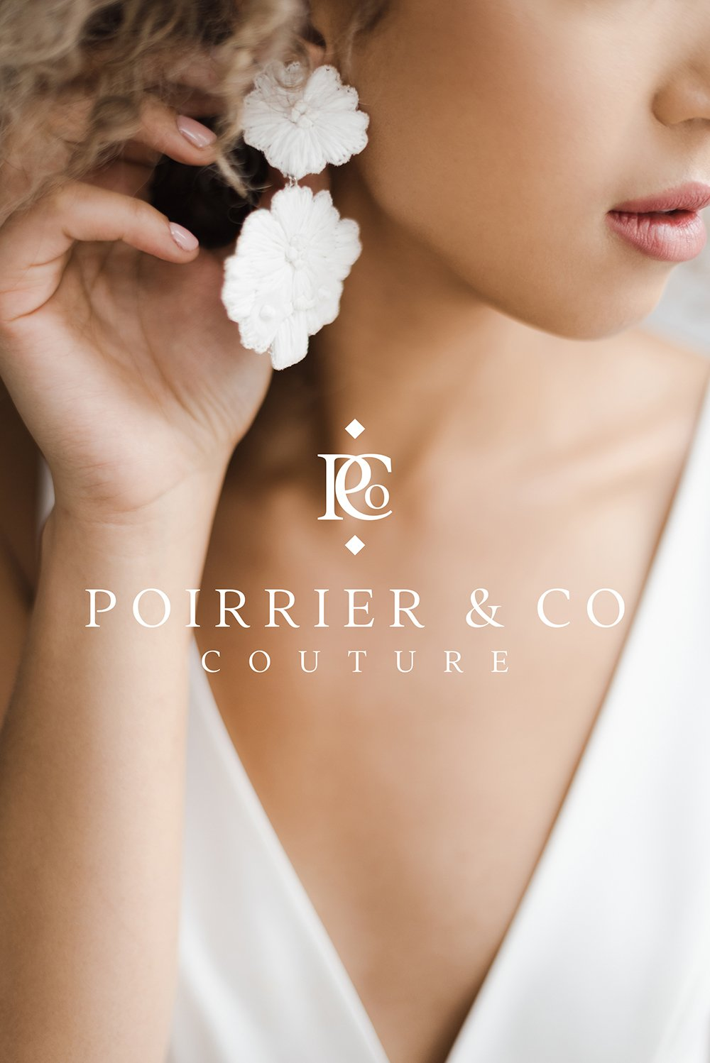 Poirrier & Co Couture Logo Design by Fancy Girl Design Studio | elegant, timeless, yet bold enough to make a statement